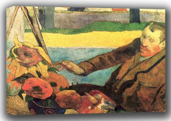 Gauguin, Paul: Van Gogh Painting Sunflowers. Fine Art Canvas. Sizes: A4/A3/A2/A1 (001534)